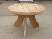 Round Cedar Table. Rochester, MN