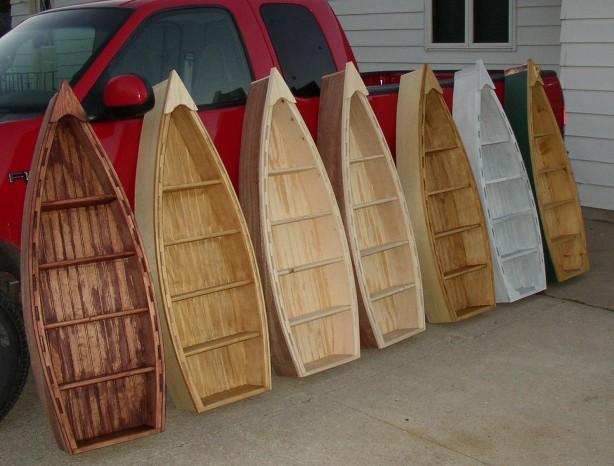 wooden boat shelf plans