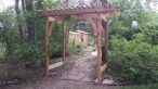 Custom Cedar and Copper Arbor