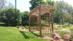Custom Cedar Arbor, with custom lattice panels