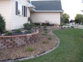 patio & retaining walls, foundation landscape