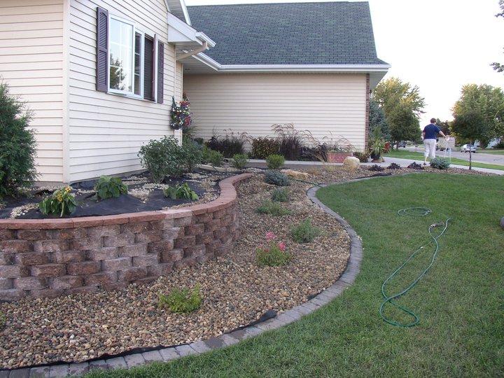 patio & retaining walls, foundation landscape